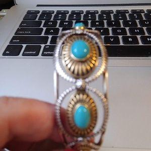 Jewelry - Southwestern Style Turquoise Cuff Bracelet -